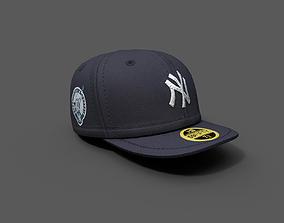 Human cap hat 3d model New york low-poly