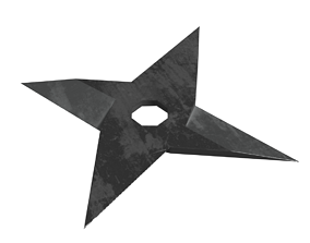 3D asset Shuriken 3 models Rigged and Animated