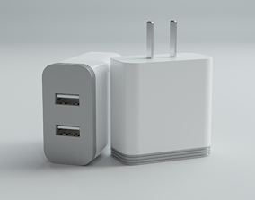3D USB Power Adapter 2 Slot
