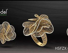 3D print model Electro-Fusion Fashion Ring illustration