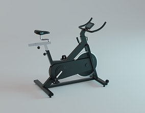 Spin Bike - Indoor Bicycle Gym Equipment 3D model