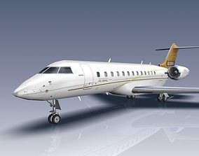 3D asset Bombardier Global 6000