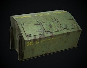 Industrial Waste Dumpster for Games 3D asset