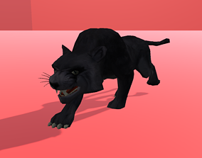 Black Panther 3D asset animated