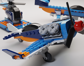 3D Detailed Lego 3 in 1 Aircrafts set