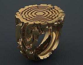 3D printable model wood trunk ring