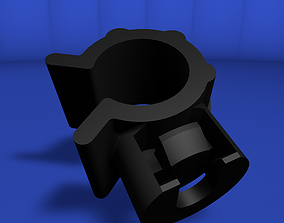 Rotating clip to anchor cylindrical elements 3D model