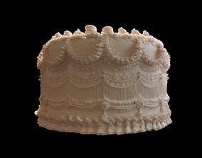 3D cream cake pie