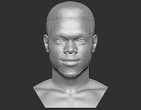 Chance The Rapper bust 3D printing ready stl obj