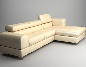 3D model Corner Sofa with Chaise 2