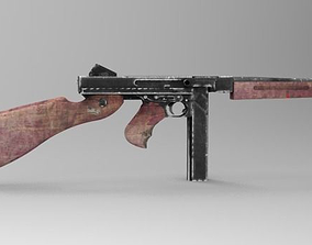 3D model M1A1 Thompson