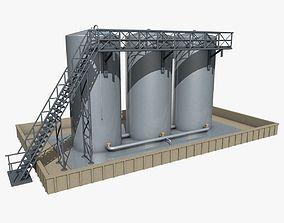 3D Industrial Storage Equipment Model
