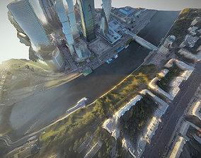 Moscow City 3D asset
