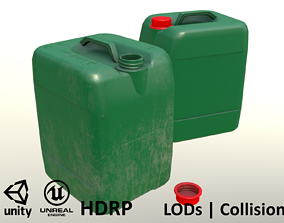 Canister Green Clean and Dirty - Unity - HDRP - 3D model