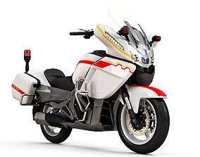 3D realistic CFMoto 650CC Police Motorbike