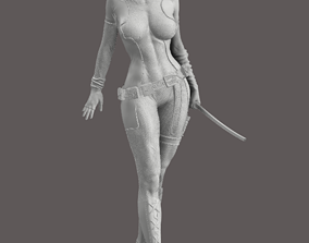 Lady Deadpool 3D printable model