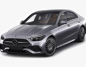 3D model Mercedes-Benz C-class AMG-line 2021