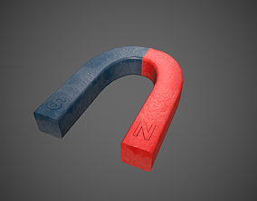 Magnet 3D model low-poly