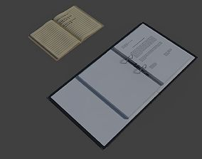 Binder and Notebook 3D asset animated