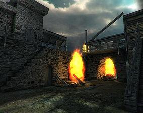 3D asset Castle Ruins