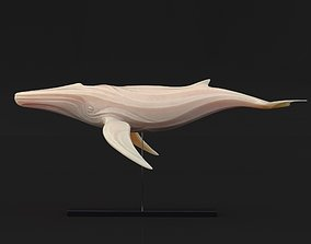 3D model VR / AR ready Statuette Whale on stand