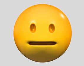 3D Emoji Neutral Face