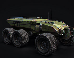Technical Vehicle Green Source Files Attached 3D asset 1