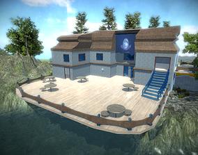 HillSide Resort-Hotel 3D model