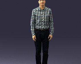 Man in plaid shirt 0385 3D Print Ready