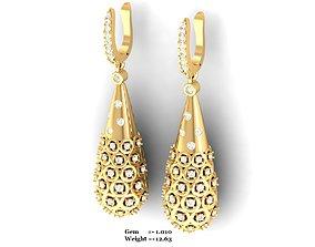 Women earrings 3dm render detail silver hoopsandhuggies