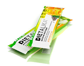3D model Dietary supplement sport fitness health bar