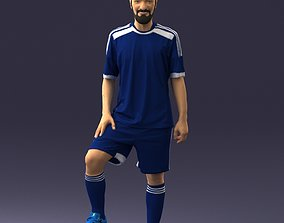 athlete Soccer player 0046 3D Print Ready