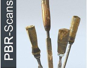 3D asset Chisels Low Poly SM