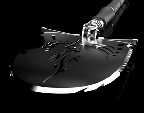 Military shovel 3D