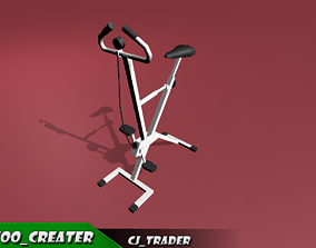 game-ready Gym cycle low poly 3D model