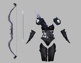 3D model Fantasy archers armor