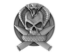3D printable model Skull soldier 2 bas-relief