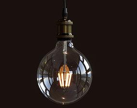 3D PBR Light Bulb fluorescent