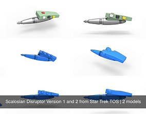 3D Scalosian Disruptor Version 1 and 2 from Star Trek TOS