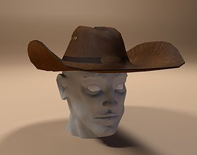 Cowboy Hat 3D model game-ready