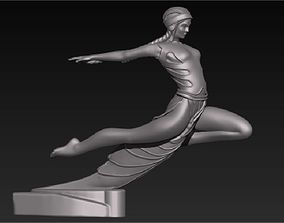 3D print model ecstasy goddess on the hood of a car