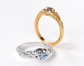 3D print model beauty engaved vintage gold ring with