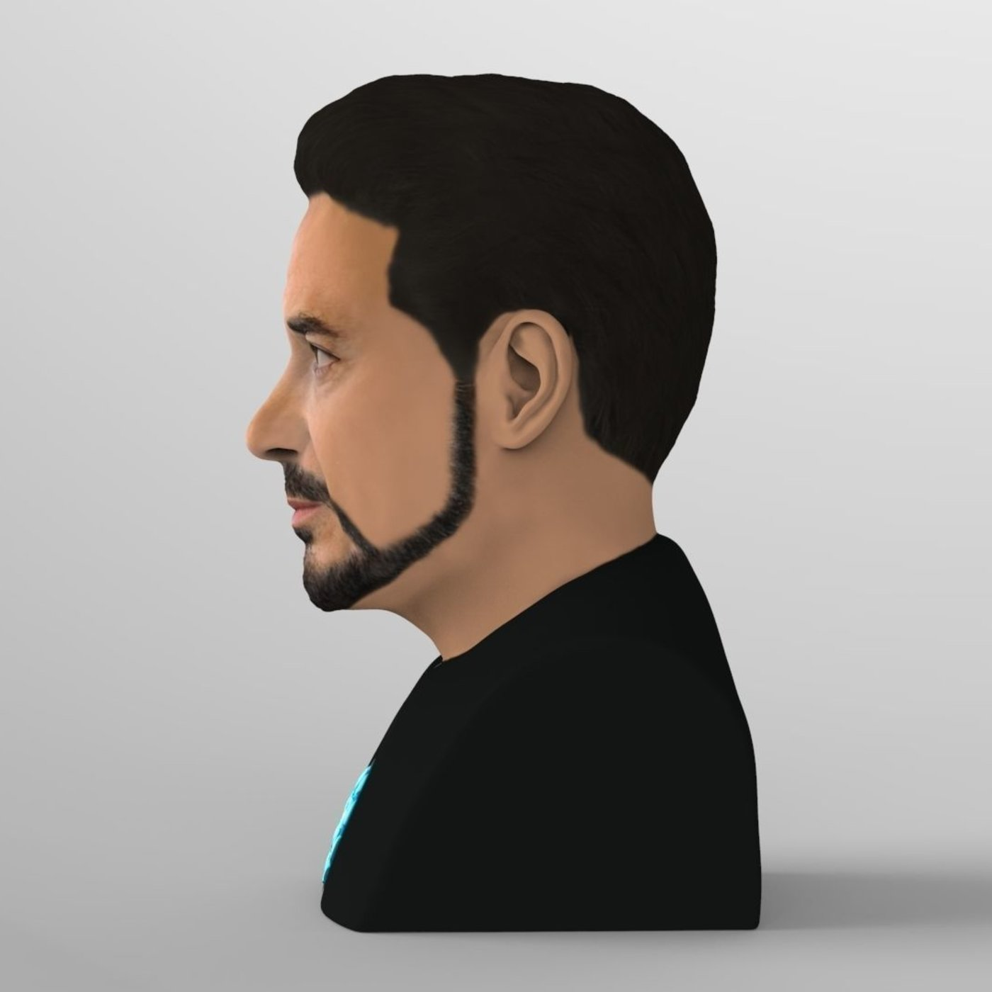 Tony Stark bust for full color 3D printing