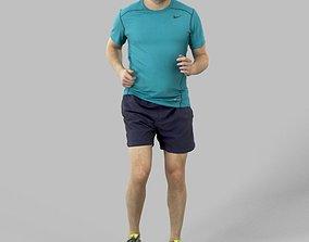 3D model Petr Sportswear Casual Man in Shorts Running 1