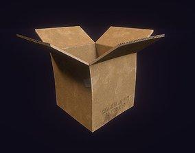 3D model Cardboard Box paper