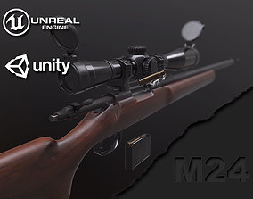 M24 Sniper Rifle 3D model VR / AR ready