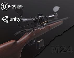 M24 Sniper Rifle 3D model VR / AR ready