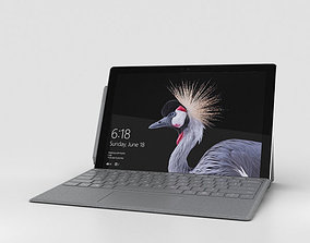 3D model Microsoft Surface Pro 2017 Platinum