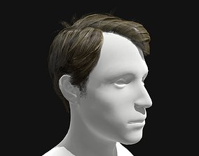 3D Hair Male Side Part Hairstyle low-poly