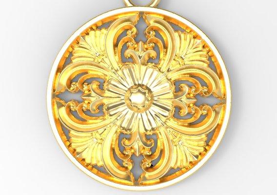 Gold Pendant Design 1 Low-poly 3D print model